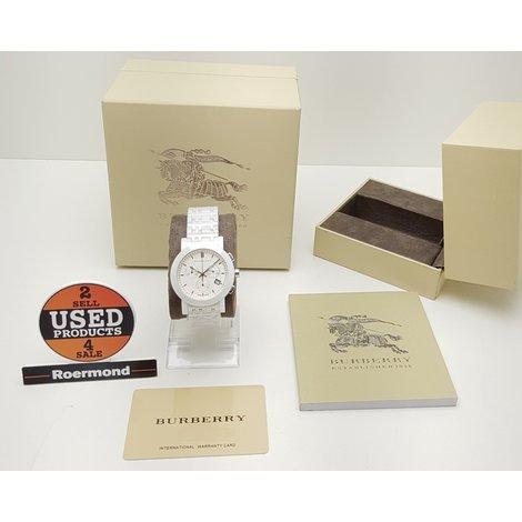 Burberry BU1770 Wit Keramisch horloge ||| Nieuw in doos