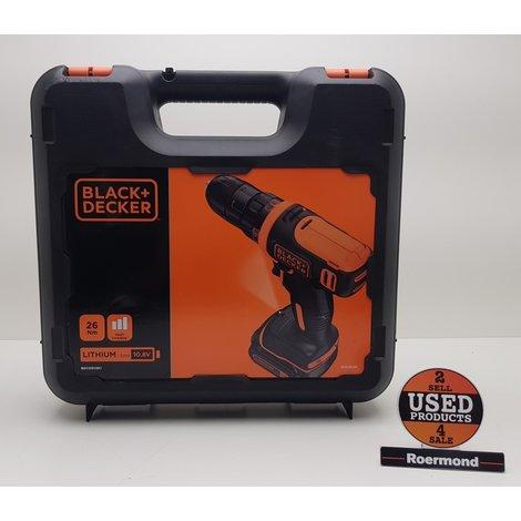 Black & Decker+ BDCDD12K1 Accu boormachine 10.8V 1.5Ah in koffer || Nieuw incl. btw