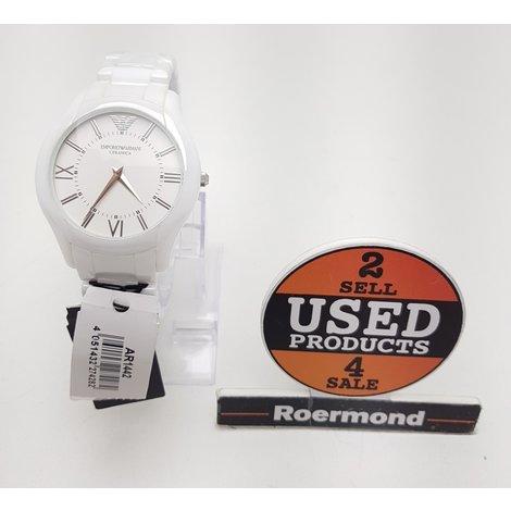 Emporio Armani AR-1442 Wit keramisch unisex horloge || Nieuw