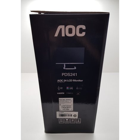 AOC PDS241 Full HD AH-IPS Monitor Black/Silver || Nieuw in doos