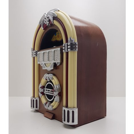 Juke box Radio AM/FM incl. verlichting || gebruikt