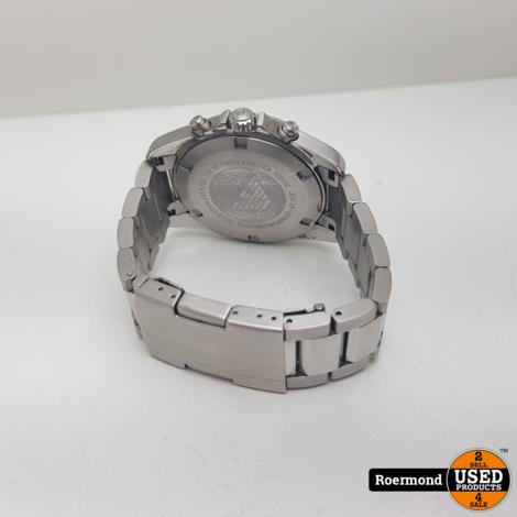 Emporio Armani AR6091 Stalen Herenhorloge || Gebruikt