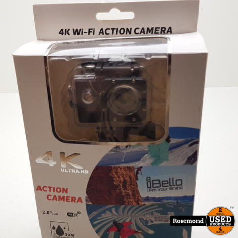iBello Action cam 4K Ultra HD | Nieuw