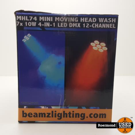 Beamz MHL 74 Wash 7x10W QUAD 12 inch DMX || Nieuw