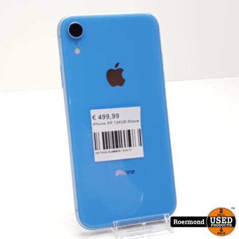 iPhone XR 128GB Blauw I ZGAN