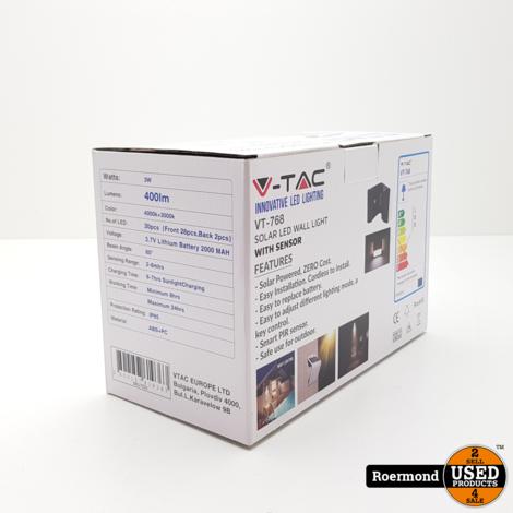 V-Tac Innovatie Led Lightning VT-768 Solar LED Wall Light   Nieuw in doos