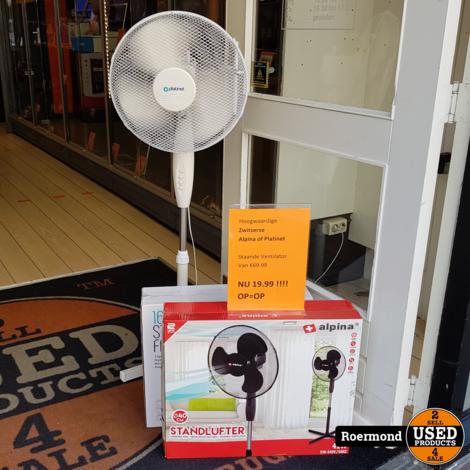 Alpina 40cm 42W Standing Fan Staande Ventilator | Nieuw in doos