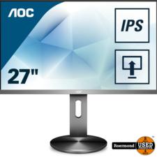 "aoc AOC I2790PQU 27"" Full HD IPS 4ms 60Hz Design Monitor Zwart/Zilver   Gebruikt"