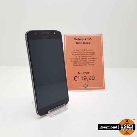 Moto G5S plus 32GB Black | Gebruikt met garantie