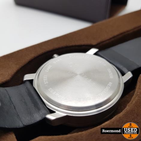 G-Moritz Paris Horloge 42mm bezel met doosje (Zwart)   Zgan