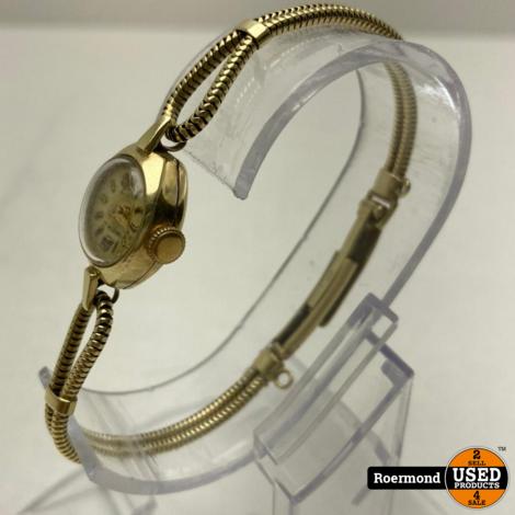 Civis 17 Rubis Gouden 14 karaats 14.9gr Vintage Horloge