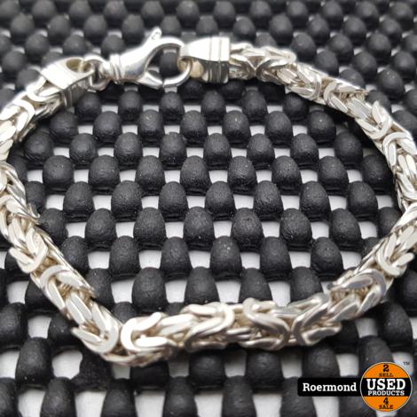 Zilveren armband 925 Koning Schakel I Zgan