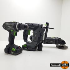 Lux-Tools Haakse slijper/Decoupeerzaag/Accuschroever Compleet