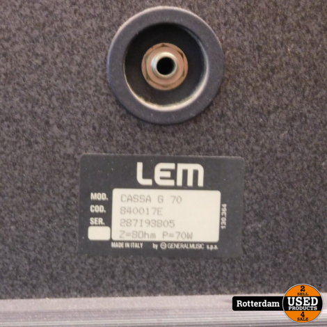 LEM Cassa G 70 | Set prijs | incl. bekabeling