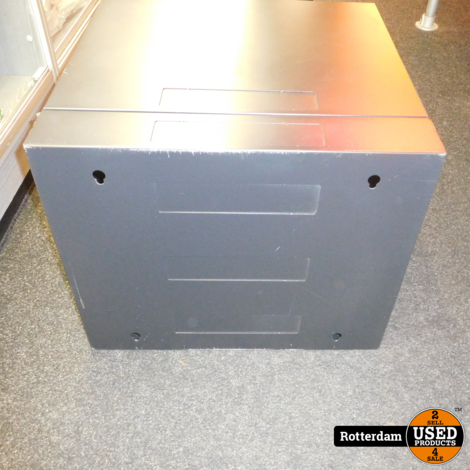 9U Patchkast / Wandkast | met glazen deur 600x600x500mm
