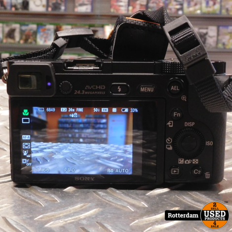 Sony A6000 Zwart + PZ 16-50mm OSS