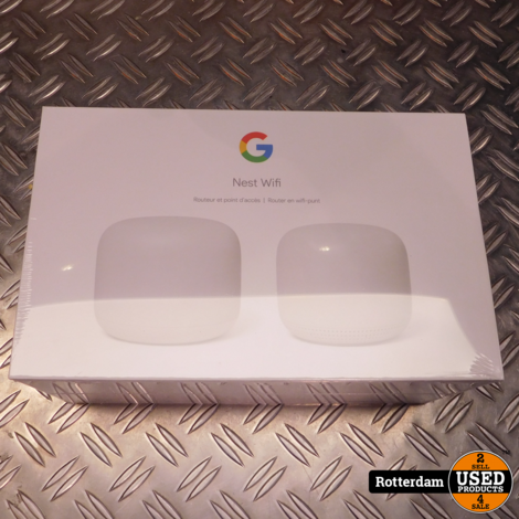 Google Nest Wifi Router + Point (Wit)