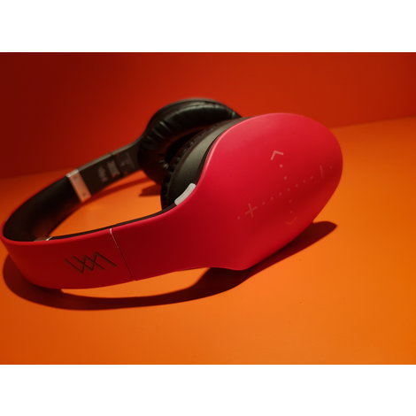 iHip DN004832 Red Side Swipe Bluetooth Headphones