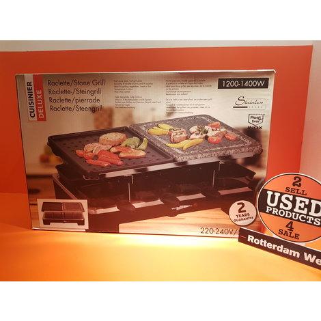 Cuisinier Deluxe Raclette Grill / Steengrill ///  Nieuw