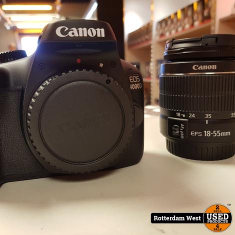 Canon EOS 4000D-body + EF-S 18-55mm // Nieuwstaat