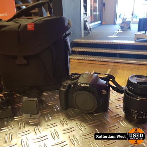 Canon EOS 1300D + 18-55mm Lens + Extra Accu