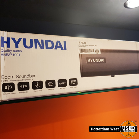 Hyundai - Boom Soundbar - 60 Watt // NEW