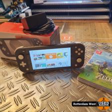 Nintendo Switch Lite + Zelda Breath of the Wild // Topstaat // Gratis verzending