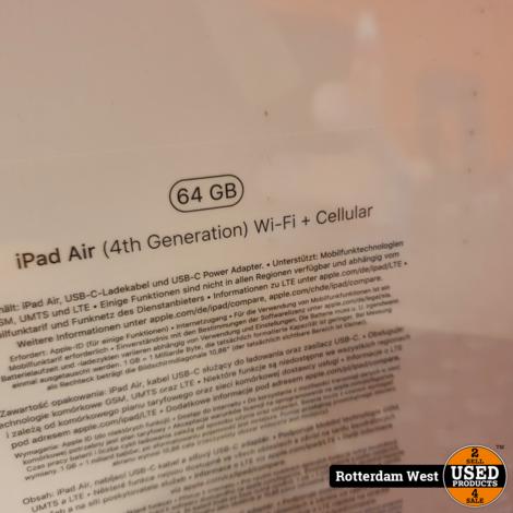 Ipad Air 4th Gen 2020 64GB Wifi + Cellular // NEW Sealed