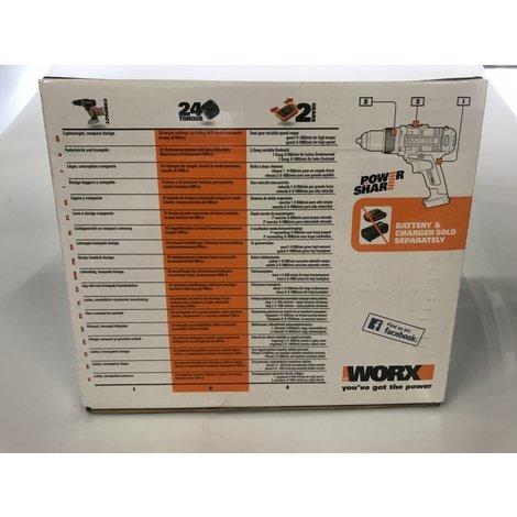 Worx WX372.9 Accuboormachine Body 20V   nieuw in doos   