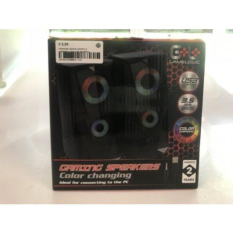Gamelogic gaming speakers    compleet in doos met garantie   