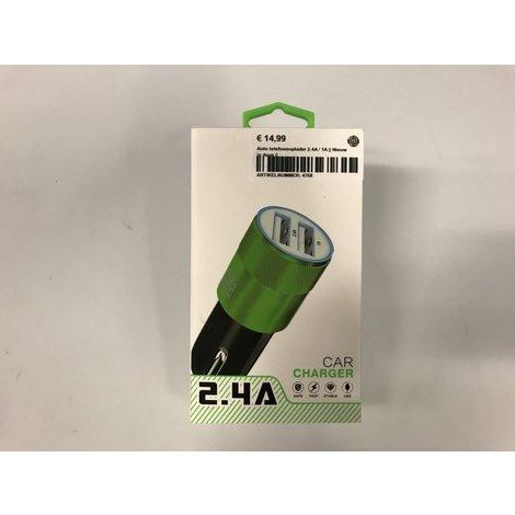 Auto telefoonoplader 2.4A / 1A || Nieuw in doos ||