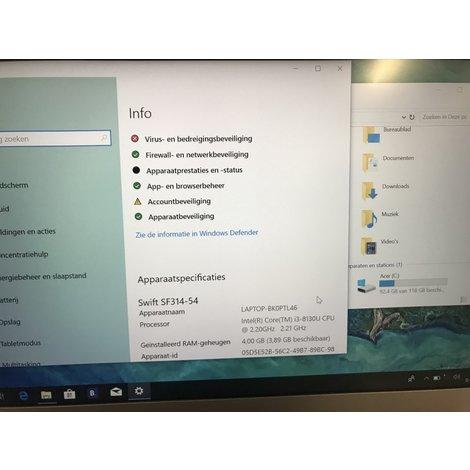 Acer Swift 3 i3-8th gen 128gb s314-54-31mz