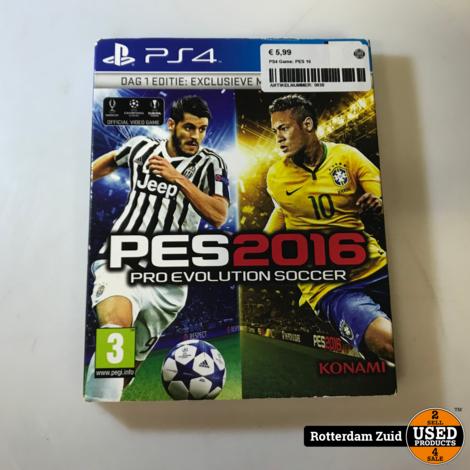 PS4 Game: PES 16 || Met garantie