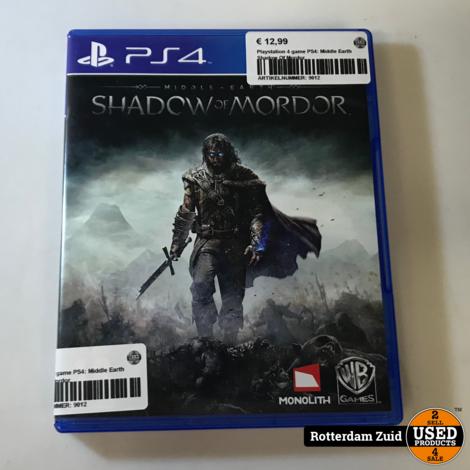 Playstation 4 game PS4: Middle Earth Shadow Of Mordor   Met garantie