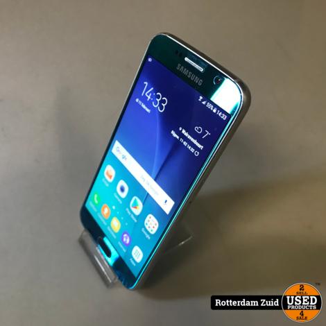 Samsung Galaxy S6 Blauw || Scheurtje op de achterkant || Met garantie