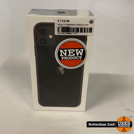 iPhone 11 64GB Black || Nieuw in seal || met garantie ||