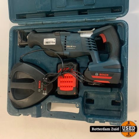 Bosch GSA 36 V-LI Reciprozaag || 2x accu + lader in koffer || Met garantie