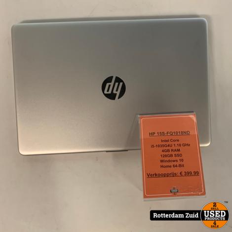 HP 15S-FQ1018ND Laptop || i5-1035G4U 1.10 GHz || 128GB SSD || Met garantie