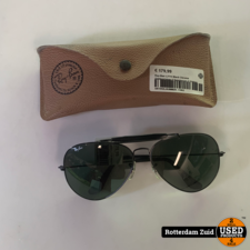 Ray-Ban L2114 Black Chrome Outdoorsman II Sunglasses || Vintage ||