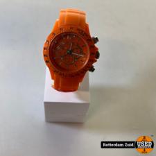 H&L horloge oranje II lege batterij II