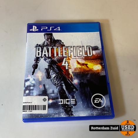 Ps4 Game: BattleField 4 || In Nette Staat || Met Garantie ||
