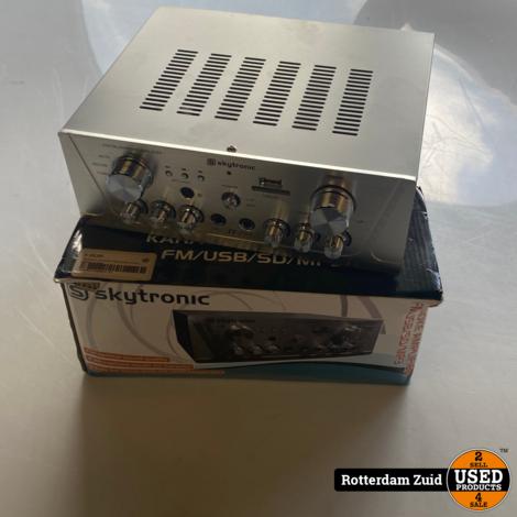 Skytronic Amplifier FM/USB/SD Zilver || Nieuw in doos || Met garantie