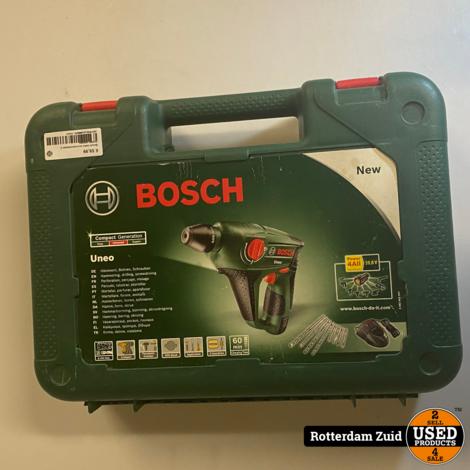 Bosch Uneo accu-boorhamer    incl oplader II met garantie