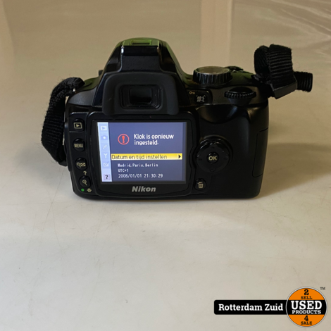 Nikon D60 body + 1 accu II met garantie