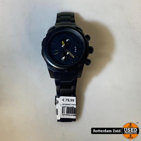 airspeed maverick horloge zwart II met garantie