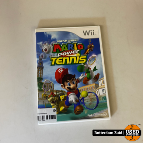 Wii game Mario power tennis