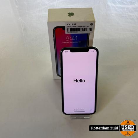 iPhone X 64GB    In Nette Staat    Met Garantie   