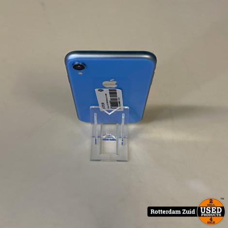 iPhone XR 128GB Blauw    in nette staat met garantie   
