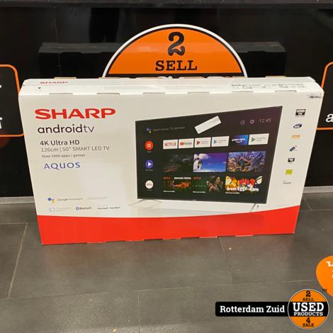 Sharp 50BL2 50inch 4K Ultra-HD Android SmartTV II nieuw II met garantie