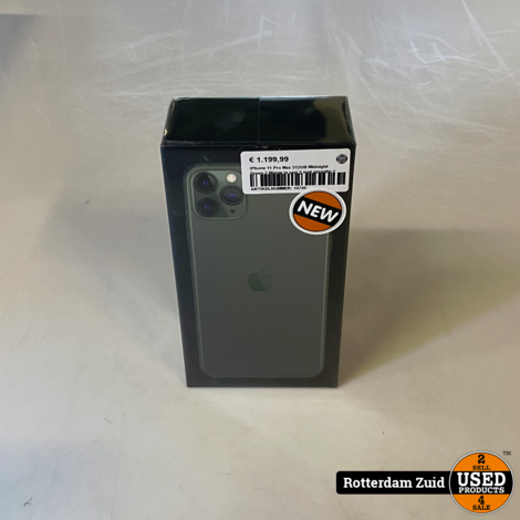iPhone 11 Pro Max 512GB Midnight Green || Nieuw in seal || met garantie ||